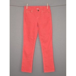 J.CREW Coral Matchstick Straight Cord Pants NEW